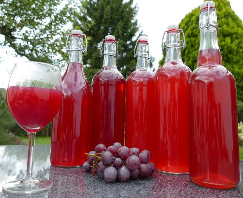 grape juice homemade harvest