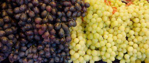grapes white grapes blue grapes