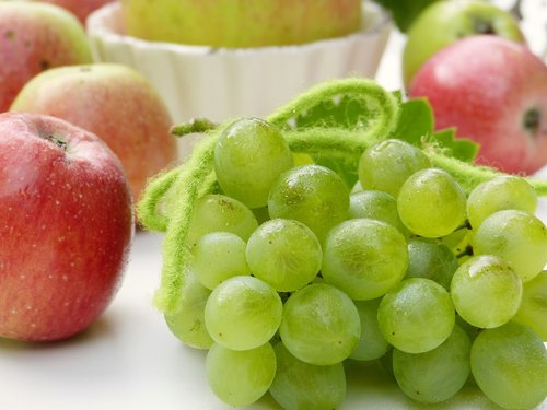 grapes  apple  water