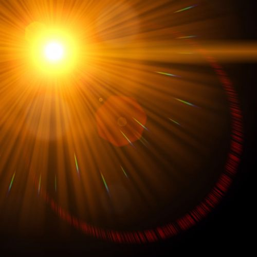 graphic abstract lens flare
