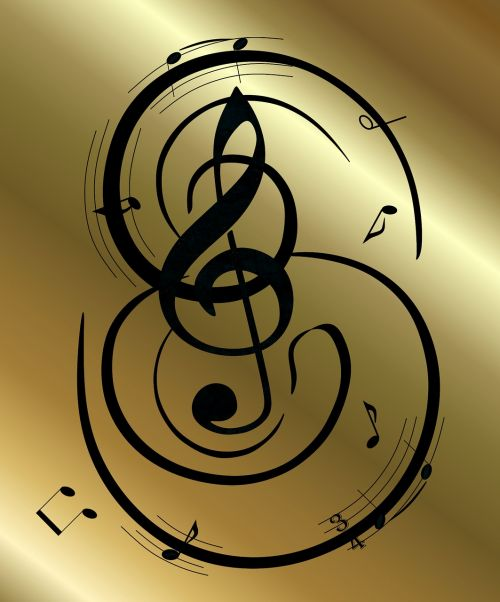 graphic clef gold
