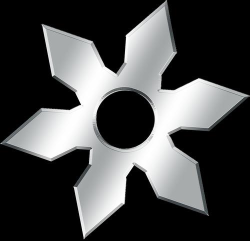 graphic  throwing star  ninja