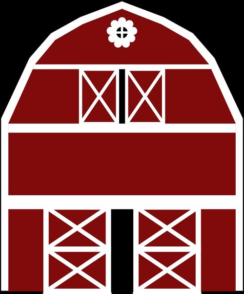 graphic  red barn  barn