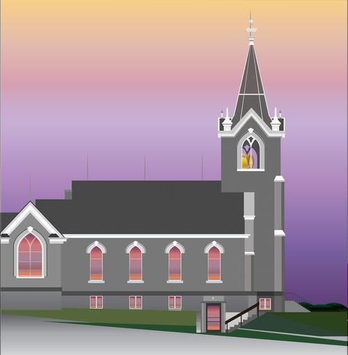 graphic  church  country church