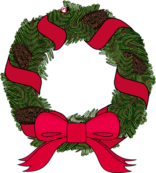 graphic  wreath  christmas