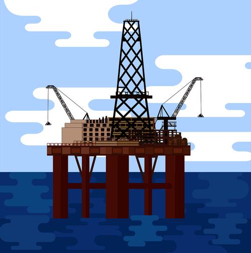 graphic  oil rig  oil