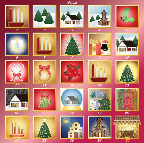 graphic  advent calendar  advent
