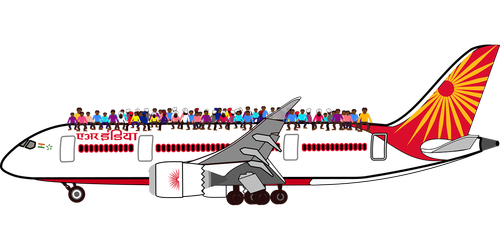 graphic  airplane  india