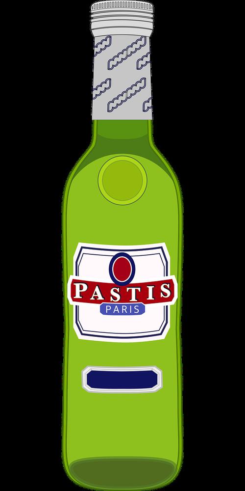 graphic  pastis  pastis bottle