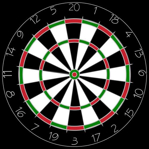 graphic  dartboard  dart board