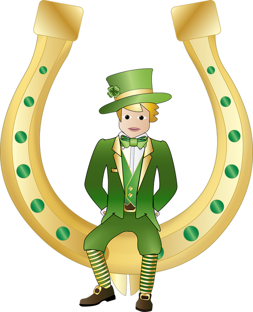 graphic  leprechaun  horseshoe