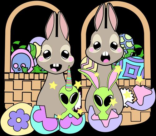 graphic  kawaii bunnies  kawaii