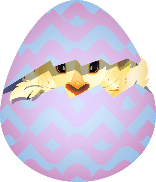 graphic  chick smiley  easter egg