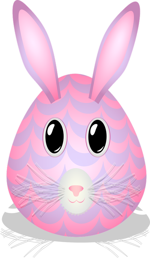 graphic  easter egg  bunny