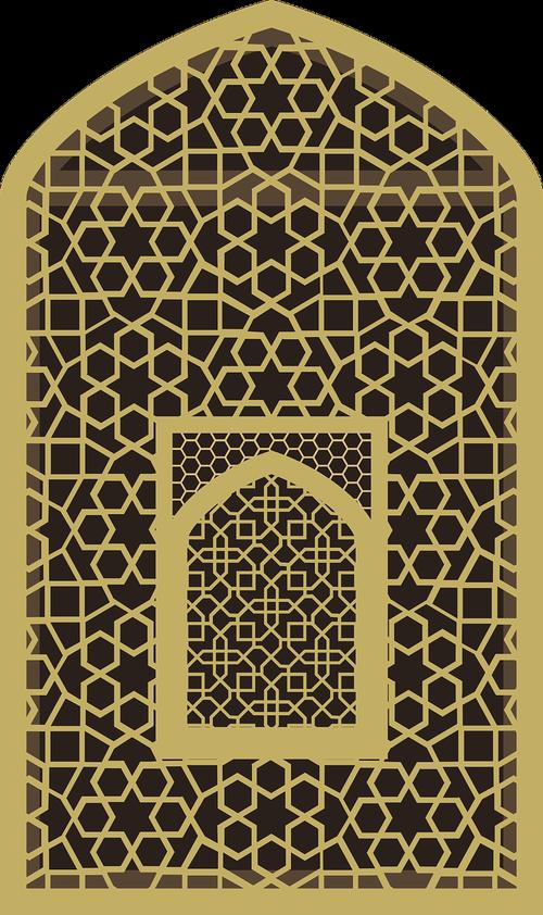 graphic  mihrab  jali