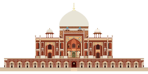 graphic  humayun's tomb  mughal architecture