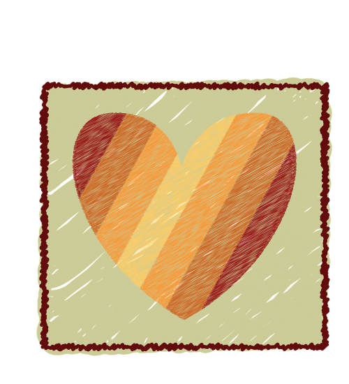graphics heart striped