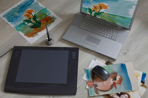 graphics tablet digital drawing computer