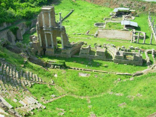 grass amphitheatre ruin