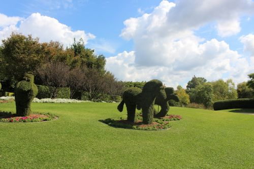 grass made elephant