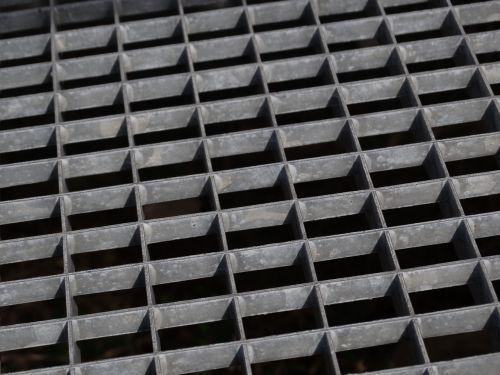 grating metal construction zinc plated