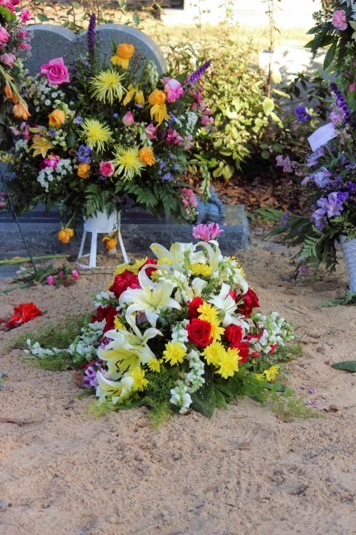 Grave Site Burial Flowers