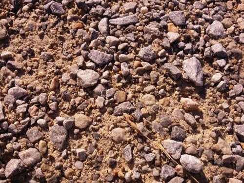gravel dirt stones