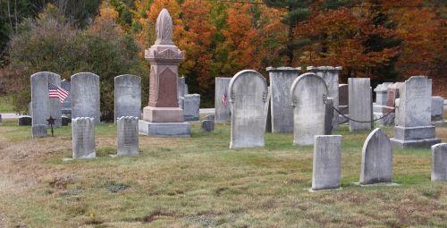 graveyard cemetery flag