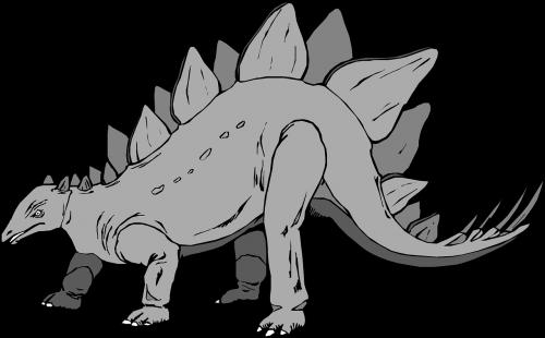 gray dinosaur stegosaurus