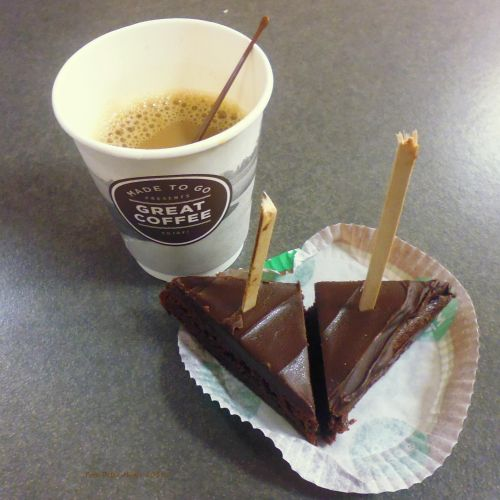 Great Coffe With Brownies