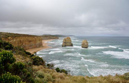 great ocean road australia landscape