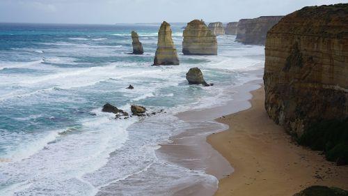 great ocean road seaside sea