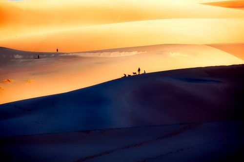 great sand dunes national park silhouettes