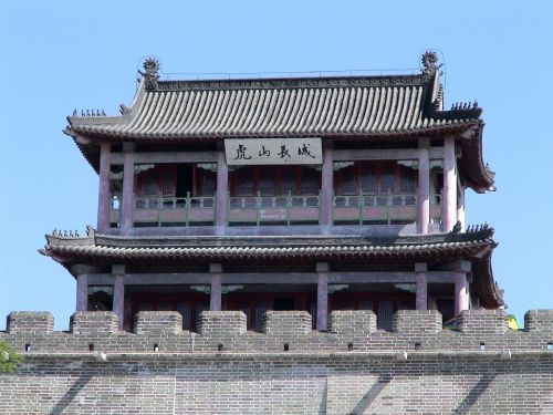 great wall of china temple building