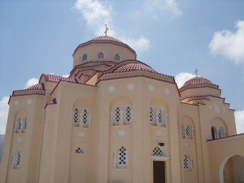 greece church red