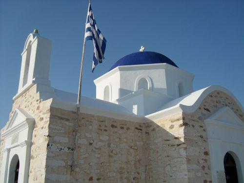 greece church blue
