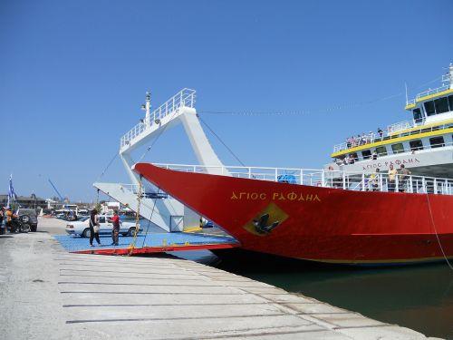 greece greek ferry harbour