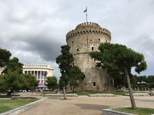 greece white tower greek