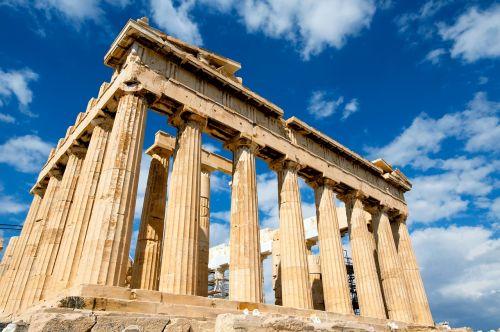 greece palace sky