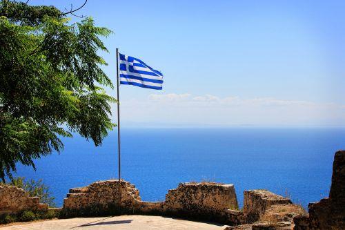 greece flag sea