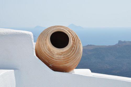 greece santorini amphora