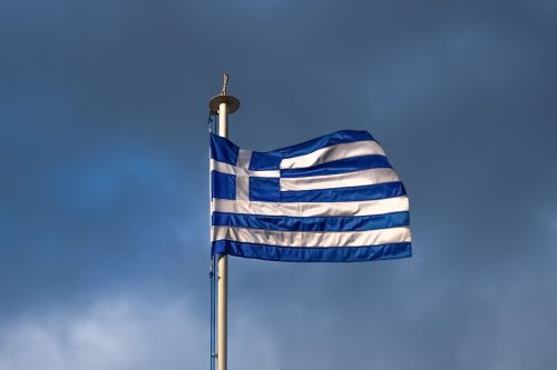 greece crisis greek flag