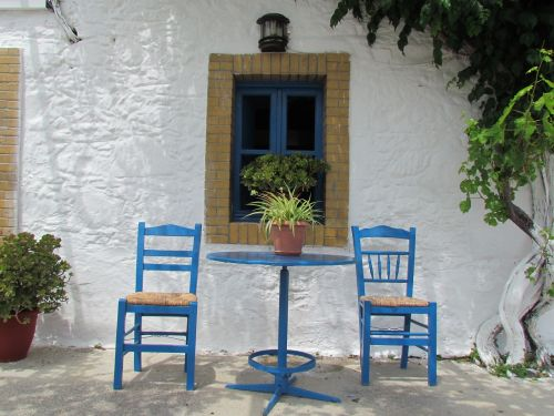 greece blue traditional