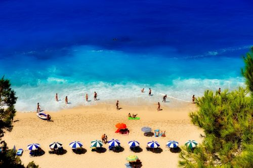 greece beach seashore