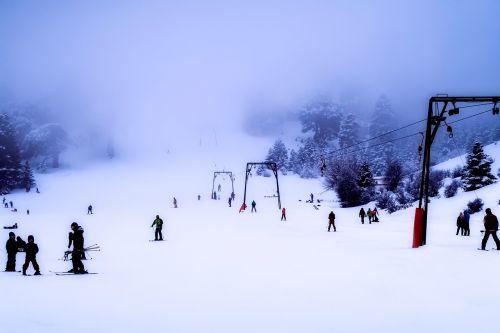 greece ski slope skiing
