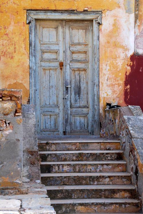 greece hydra door