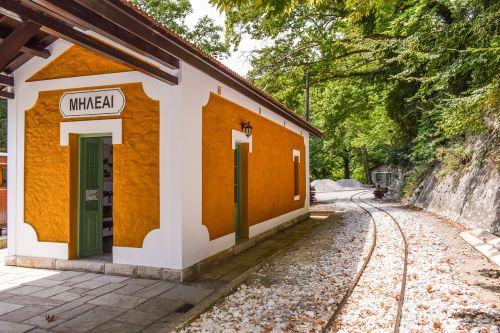 Graikija,magnezija,milies,traukinių stotis,bėgiai,vintage,turizmas