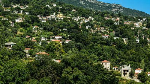 Graikija,Pelio,milies,kaimas,architektūra,tradicinis,kaimas,kaimas,turizmas,kraštovaizdis,vasara,kalnas