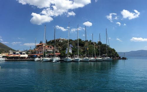 greece sailing boat boat