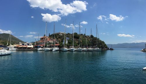 greece marina sailboats
